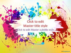 free color ppt template is an arts crafts related background with