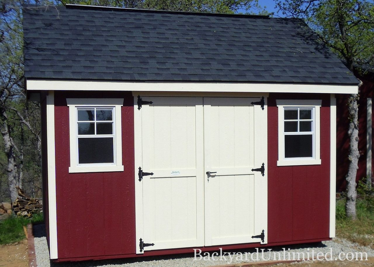 10 X14 Garden Shed With Lap Siding Carriage House Doors 9 Lite Wood Windows Shutters Gable Vents And Cupola Carriage House Doors Shed Garden Shed