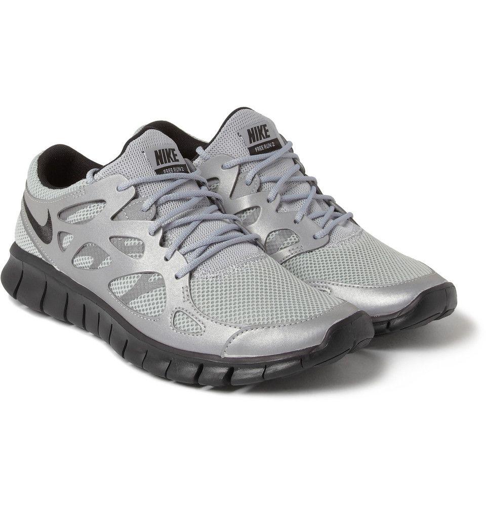 great fit bc8d3 51ec3 Nike Free Run 2 Nike - Free Run 2 Reflective Panelled Sneakers MR PORTER Nike  Free Run +2 ID Black ...