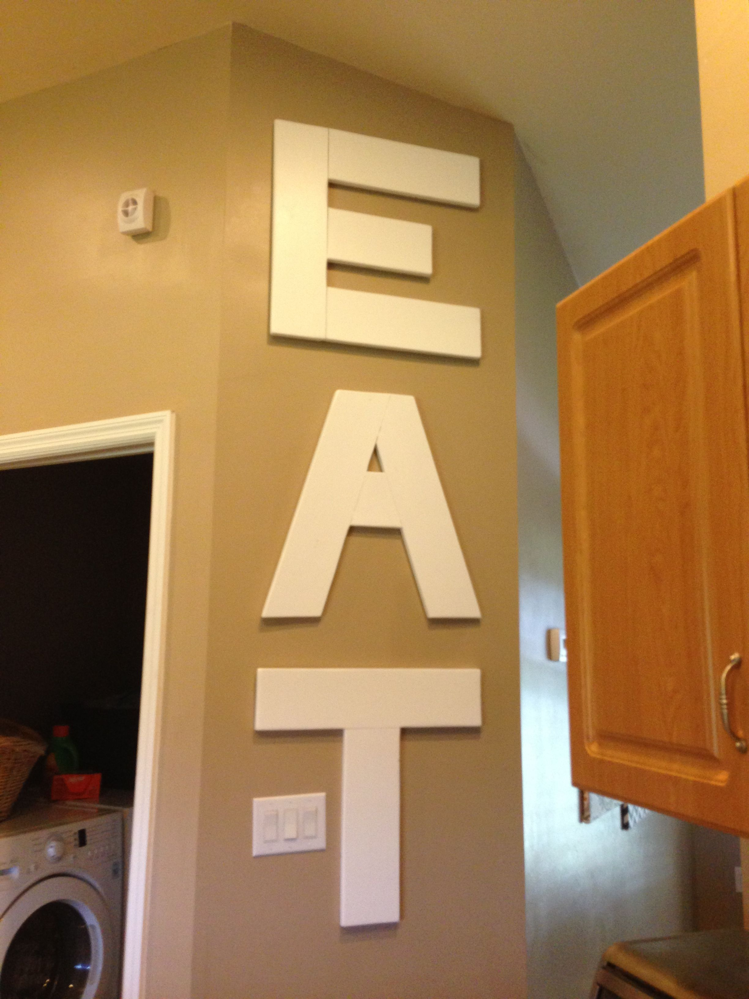 DIY Wood Panel - Kitchen EAT wall decor | • Thank you, Pinterest ...