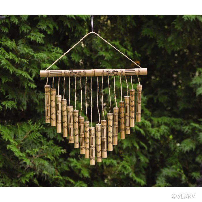 Birdhouses & Chimes - Chevron Bamboo Wind Chime