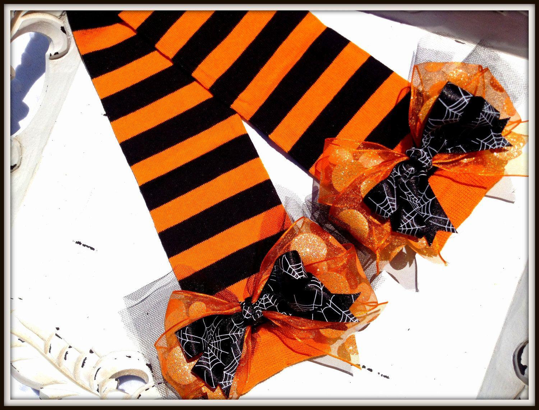 halloween witch pumpkin baby leg warmers costume tutu 900 via etsy
