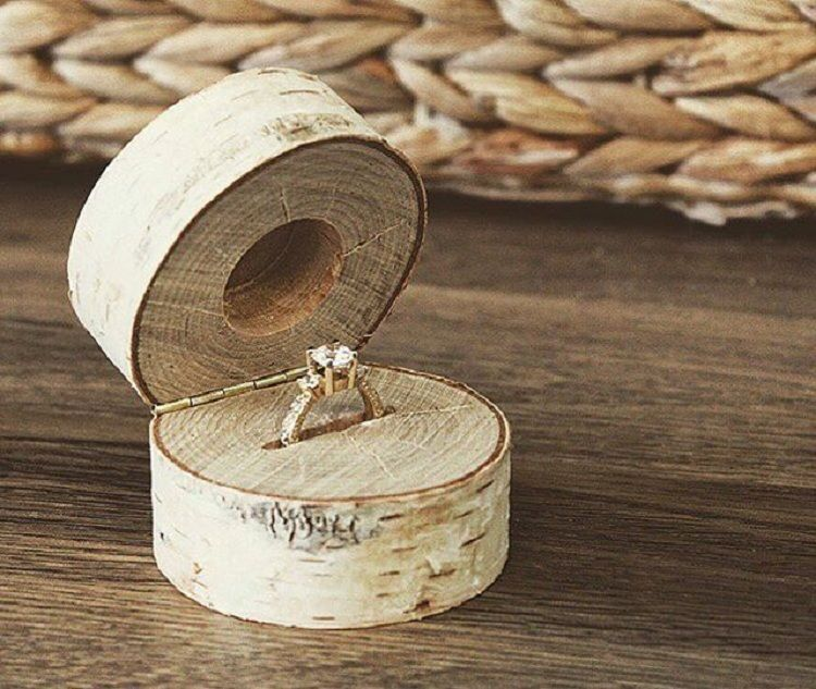 Homemade Engagement Ring Wooden Beauty Jewelry Ideas In