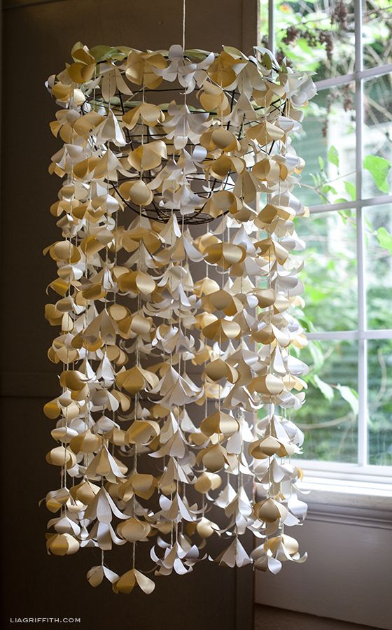 Paper Flower Cascade Very Pretty A Lot Of Cutting If It Was Going To Be Something I Wanted Hang Long Term Would Try Find Way Protect