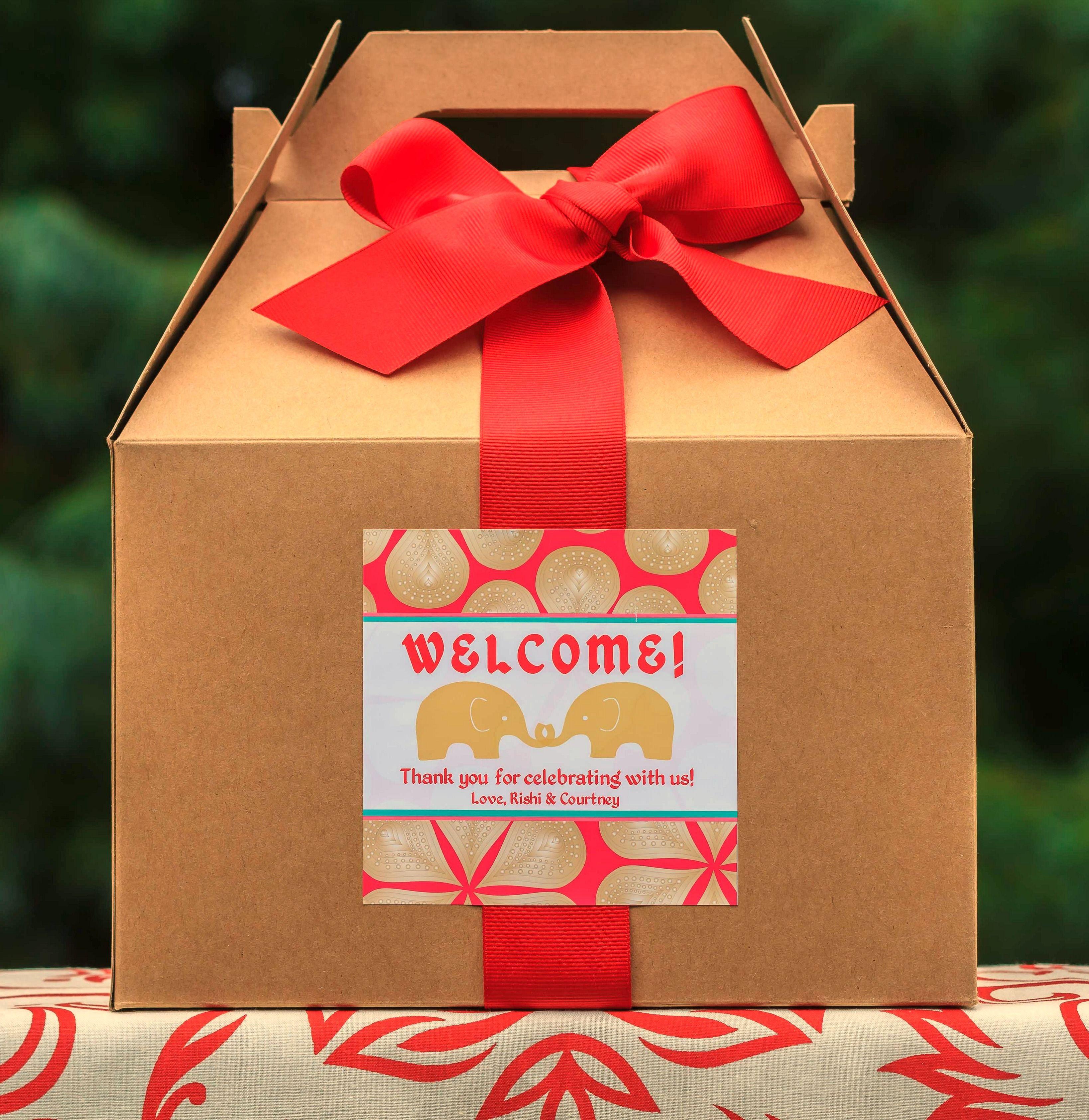 Indian Wedding Welcome Box Labels. Indian Wedding Favors. Mandala ...