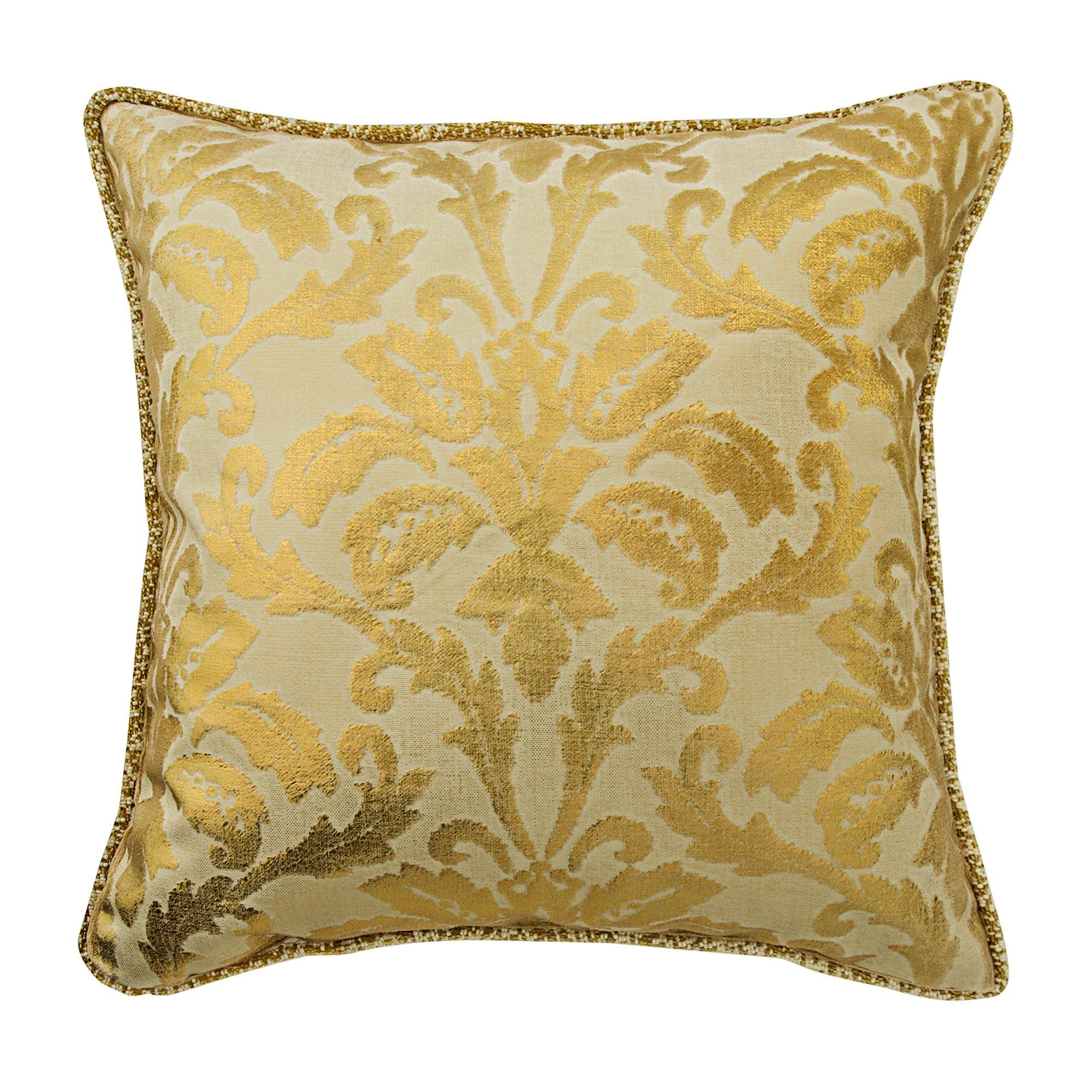 Decorative Damask Pillow Cover 16 X 16 Foil Velvet Pillowcase Square Gold Throw Pillows Cover Couch Pillow C Damask Pillows Gold Throw Pillows Gold Pillows