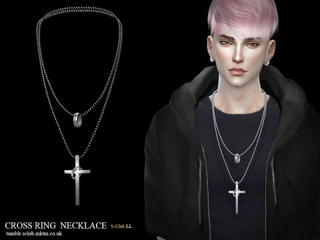 Sims 4 CC's - The Best: Necklace & Earring by S-Club