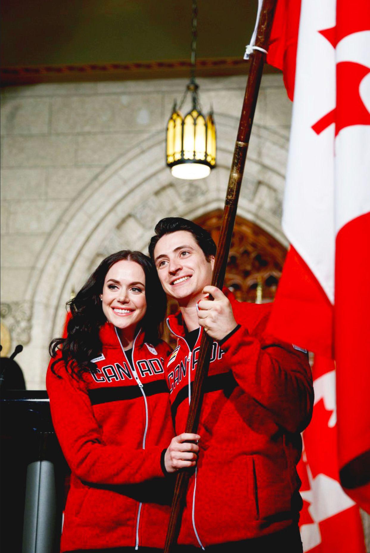 Tessa Virtue And Scott Moir Chosen Be Canadian Flag Bearers At The 2018 Pyeongchang Olympic Games Tessa And Scott Tessa Virtue Scott Moir Virtue And Moir