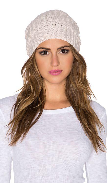 Autumn Cashmere Hand knit Bag Hat in Powder Pink