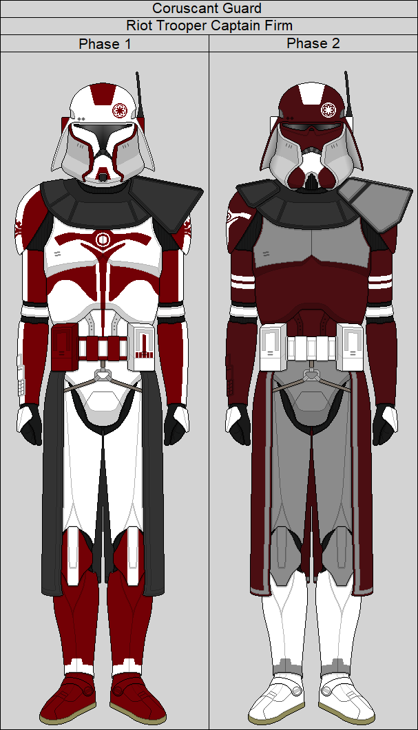 Coruscant Guard Captain Firm By Middytheknight Clone Trooper Armor