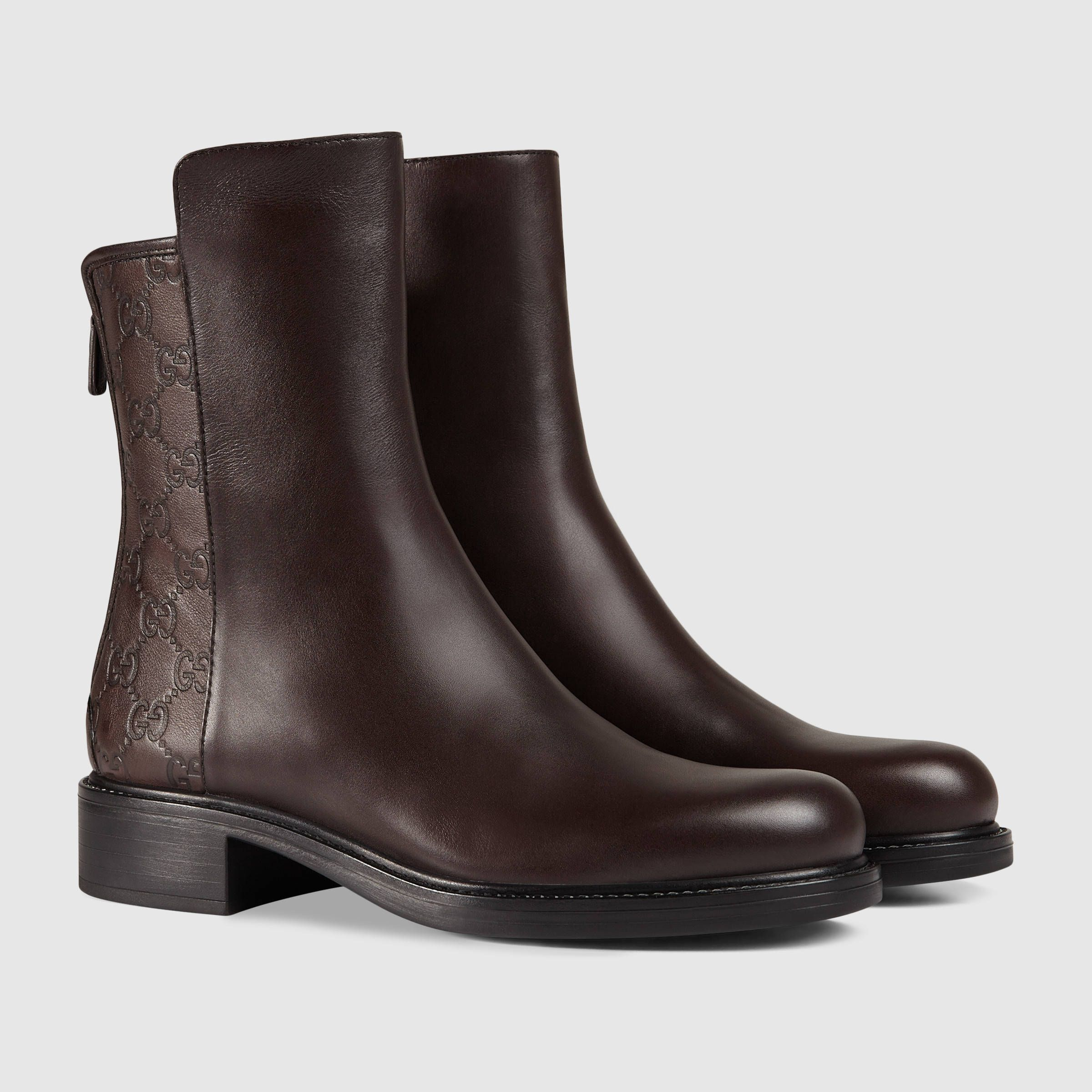 Gucci Women - Gucci Dark Brown Leather ankle boots - $895.00 ...