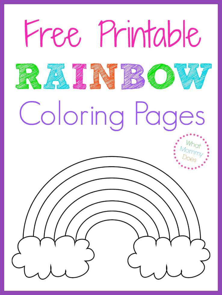 Free Printable Rainbow Coloring Pages Printables Free Kids Rainbow Parties Rainbow