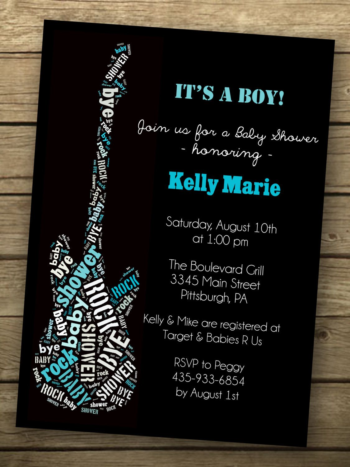 Rock A Bye Baby Shower Invitation Printable Baby Shower