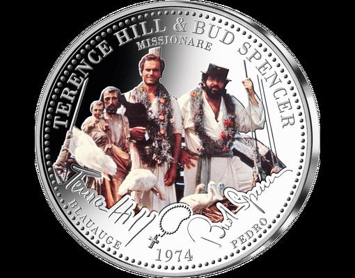 60 Jahre Terence Hill Bud Spencer Die Kollektion Farbveredelter Gedenkpragungen Aus Echtem Silber 333 1000 Ihre S Terence Hill Bud Spencer Fun Bilder