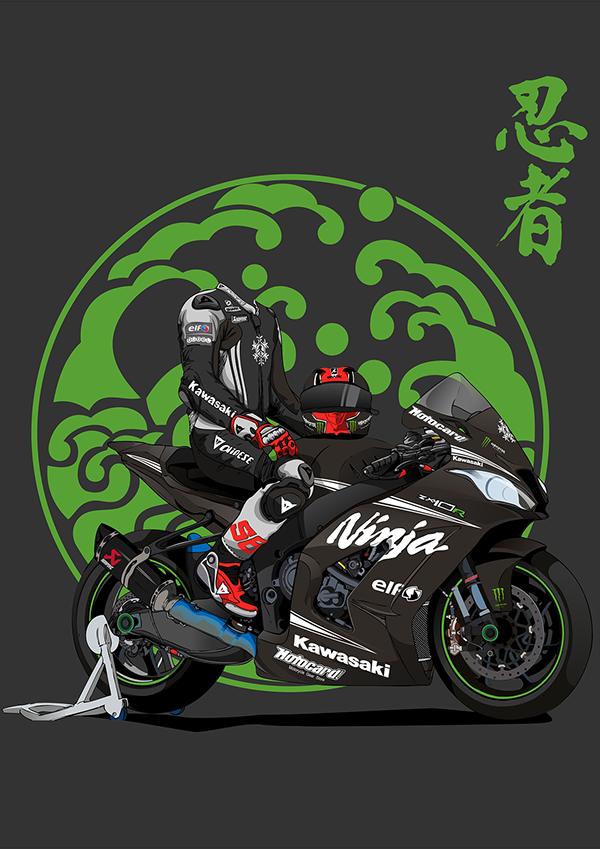 Ninja Zx10r Detailed Vector On Behance In 2021 Bike Sketch Motorcycle Illustration Ninja Wallpaper