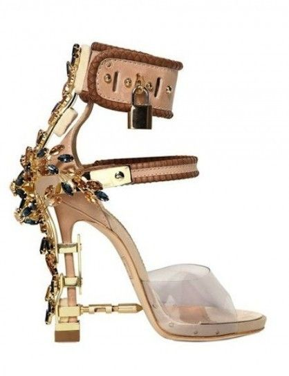 Sandalo con tacco gioiello