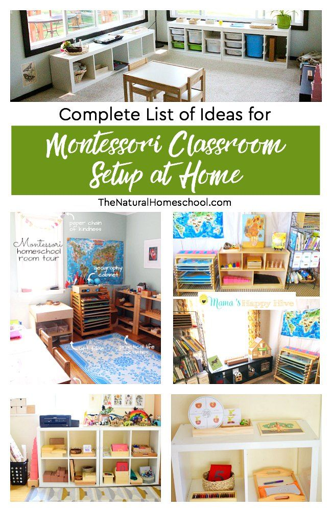 Complete List of Montessori Classroom Setup at Home Ideas images