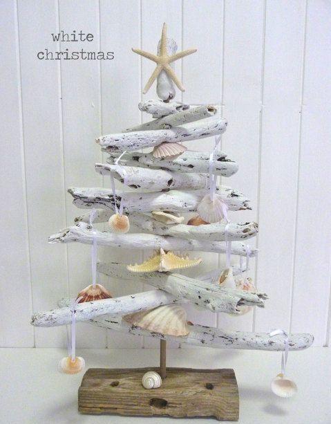 Top 40 Beach Christmas Decorating Ideas Driftwood Christmas Tree