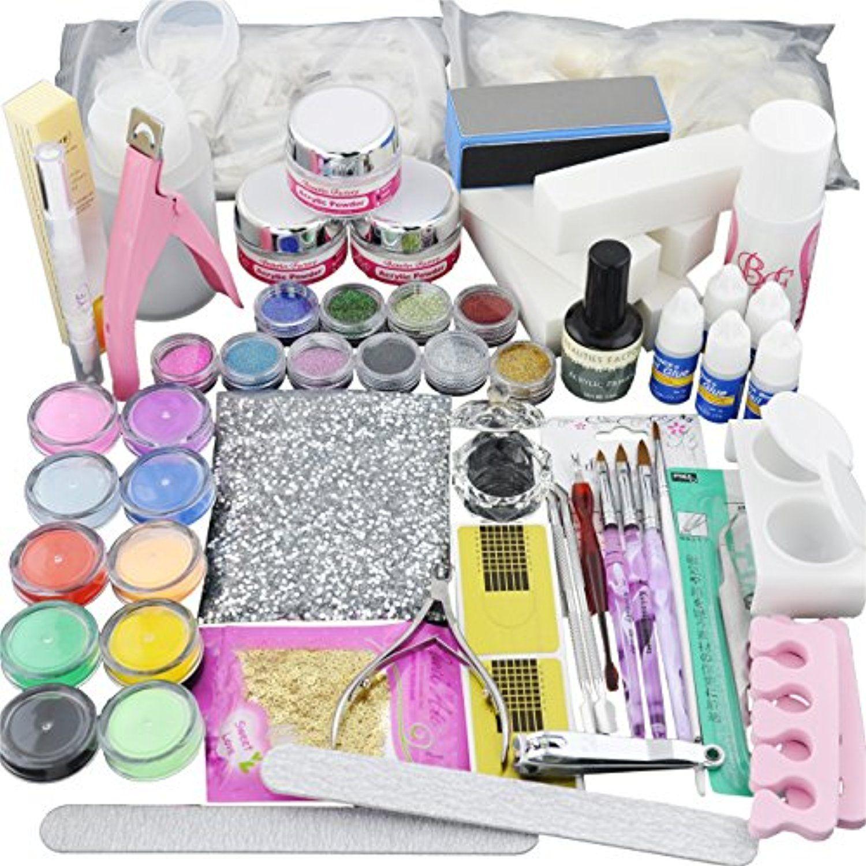 Beauties Factory Best-Seller Acrylic Nail Art Set Full Powder Tips ...