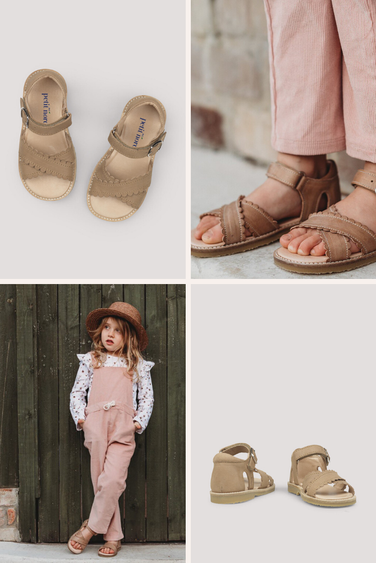 Crossover Scallop Sandals for Children