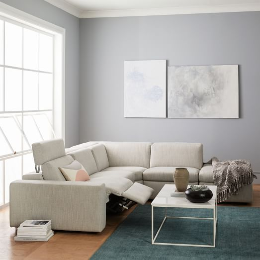 Enzo Reclining 3 Seater Sectional With Storage Chaise West Elm Upholstered Furniture Storage Chaise Affordable Scandinavian Furniture