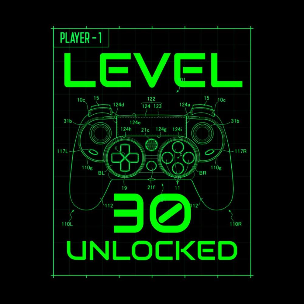 Level 30 Unlocked Neon Green Console Game Controller Cool Retro Gamer Birthday Retro Gamer Video Game Room Design Retro Games Console