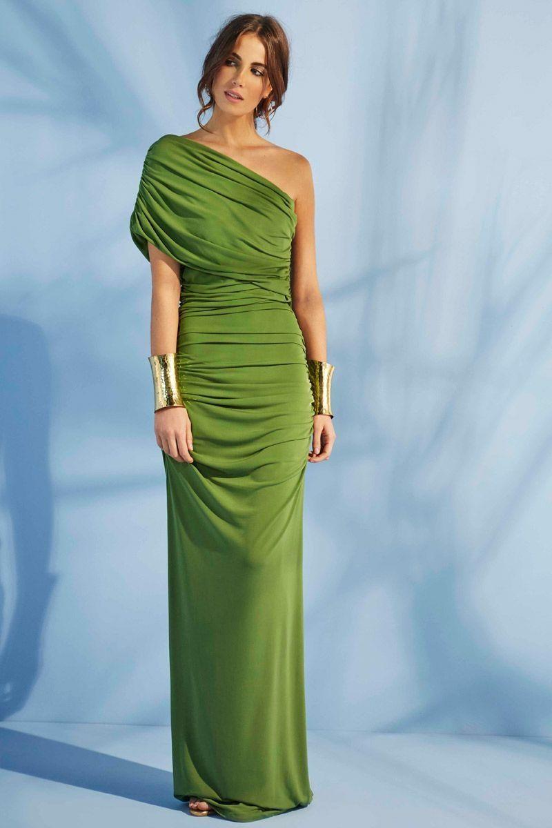 Vestido Largo Verde Santorini | Pinterest | Vestidos, Green style ...
