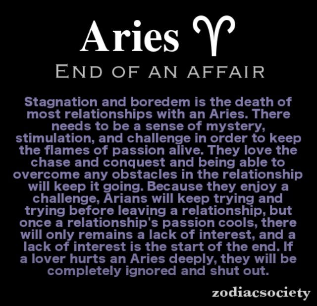 Aries woman you when an is done with What to