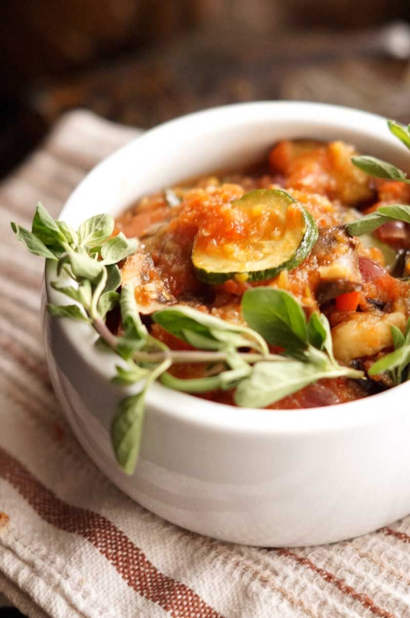 Classic Ratatouille with ideas for getting your kids involved in preparing the meal!
