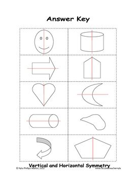 free symmetry worksheets with answer keys nyla 39 s crafty teaching. Black Bedroom Furniture Sets. Home Design Ideas