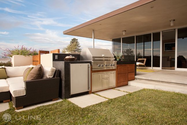 The Perfect Complement To Any Outdoor Kitchen U Line Has A Perfect Refrigerator Or Ice Maker For That Ba Backyard Kitchen Outdoor Kitchen Outdoor Entertaining