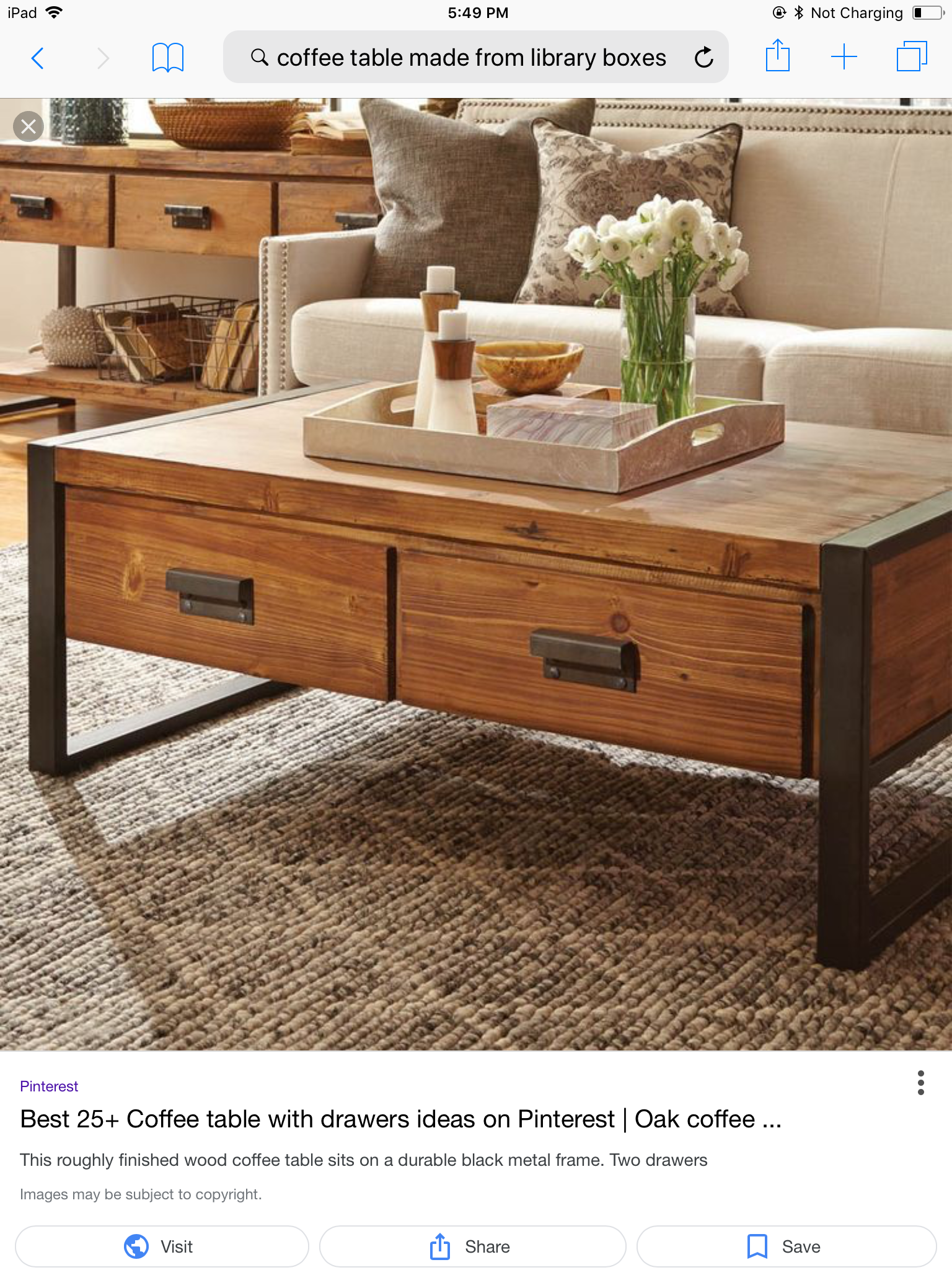 Pin By Laura Kump On Decorating Ideas Coffee Table Coffee Table With Storage Coffee Table Wood [ 2048 x 1536 Pixel ]