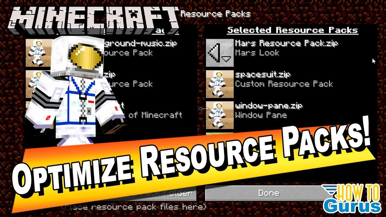 How to optimize a custom minecraft resource pack