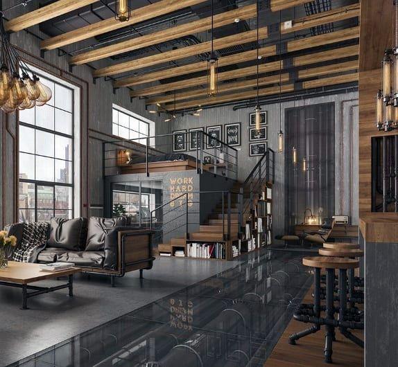 Top 50 Best Industrial Interior Design Ideas - Raw Decor Inspiration