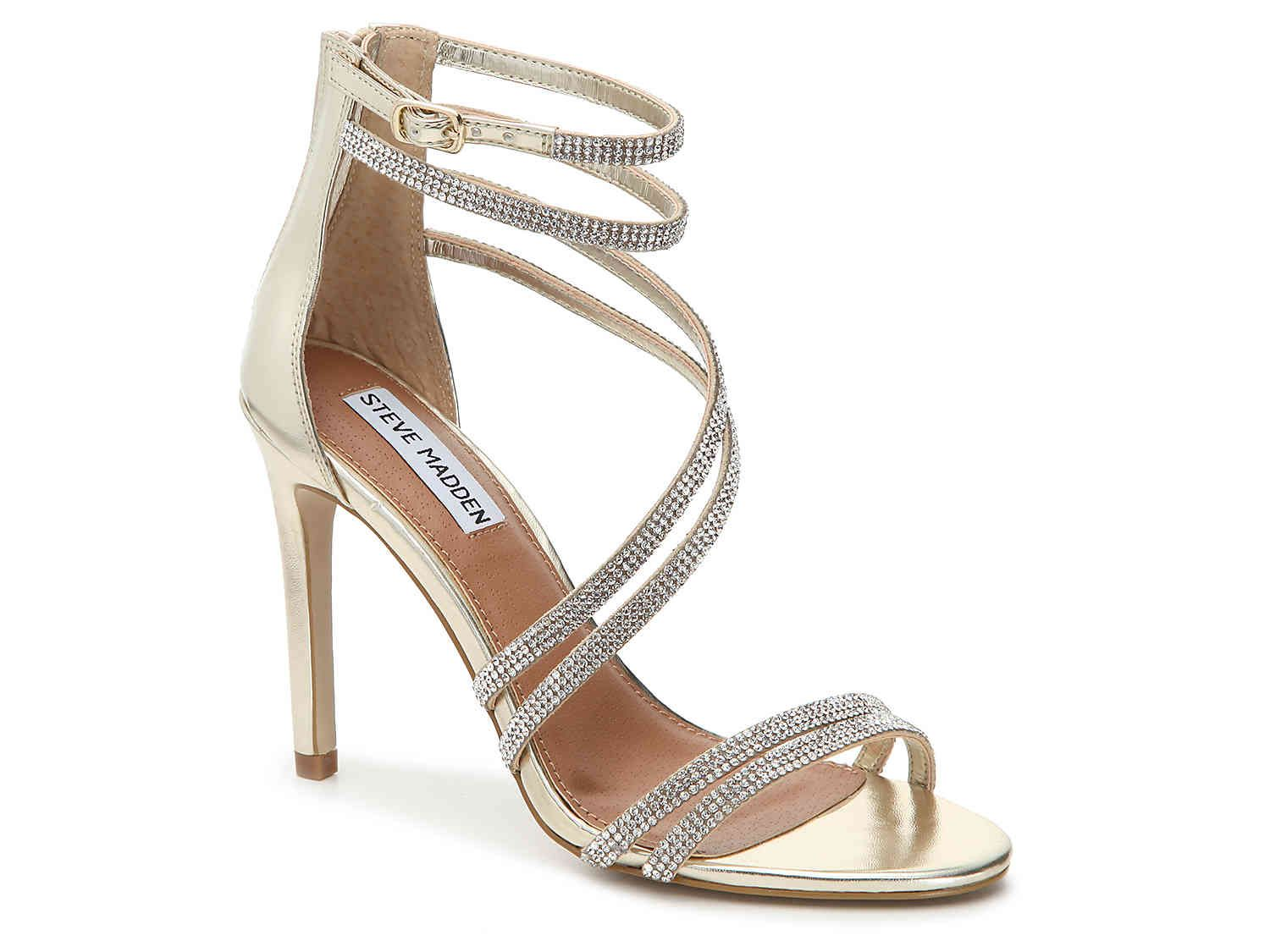 b3dc5240fc6 steve madden diamond and gold strappy heel