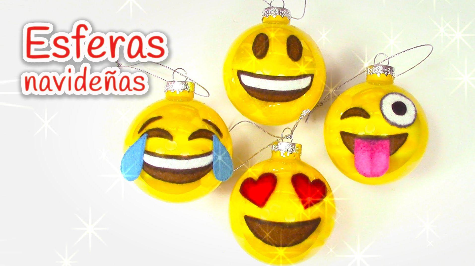 para navidad esferas navideas de emojis innova manualid