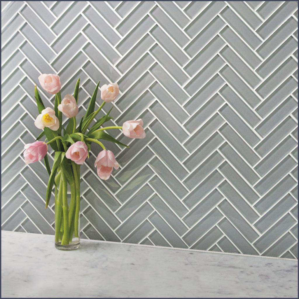 AKDO on in 2020 | Herringbone backsplash, Glass tile ...