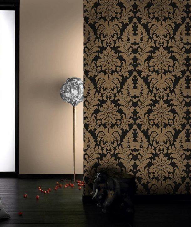 Barok behang klassiek zwart goud behang pinterest zwart goud barok en goud - Behang zwart en goud ...