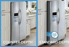 Image Result For Counter Depth Refrigerator Vs Regular Counter Depth Refrigerator Home Additions Modern Kitchen Counters