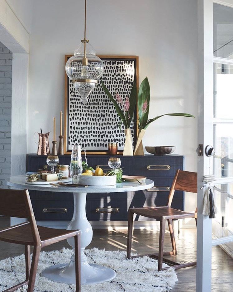 Dining room art eclectic rooms small blue also casual homes and interiors in design rh pinterest