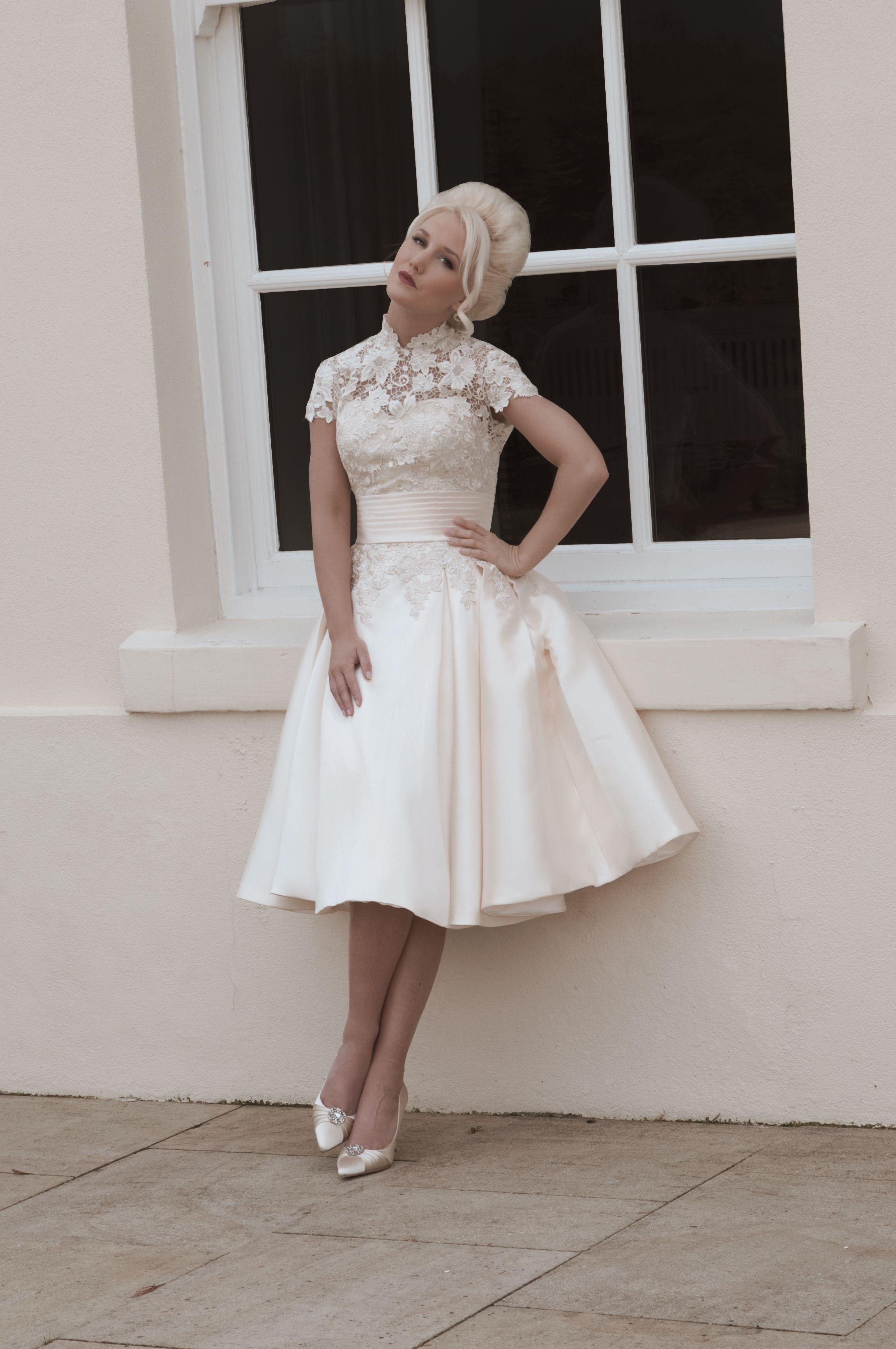 Mooshki Nancy - Grace Kelly inspired tea length dress in Mikado ...