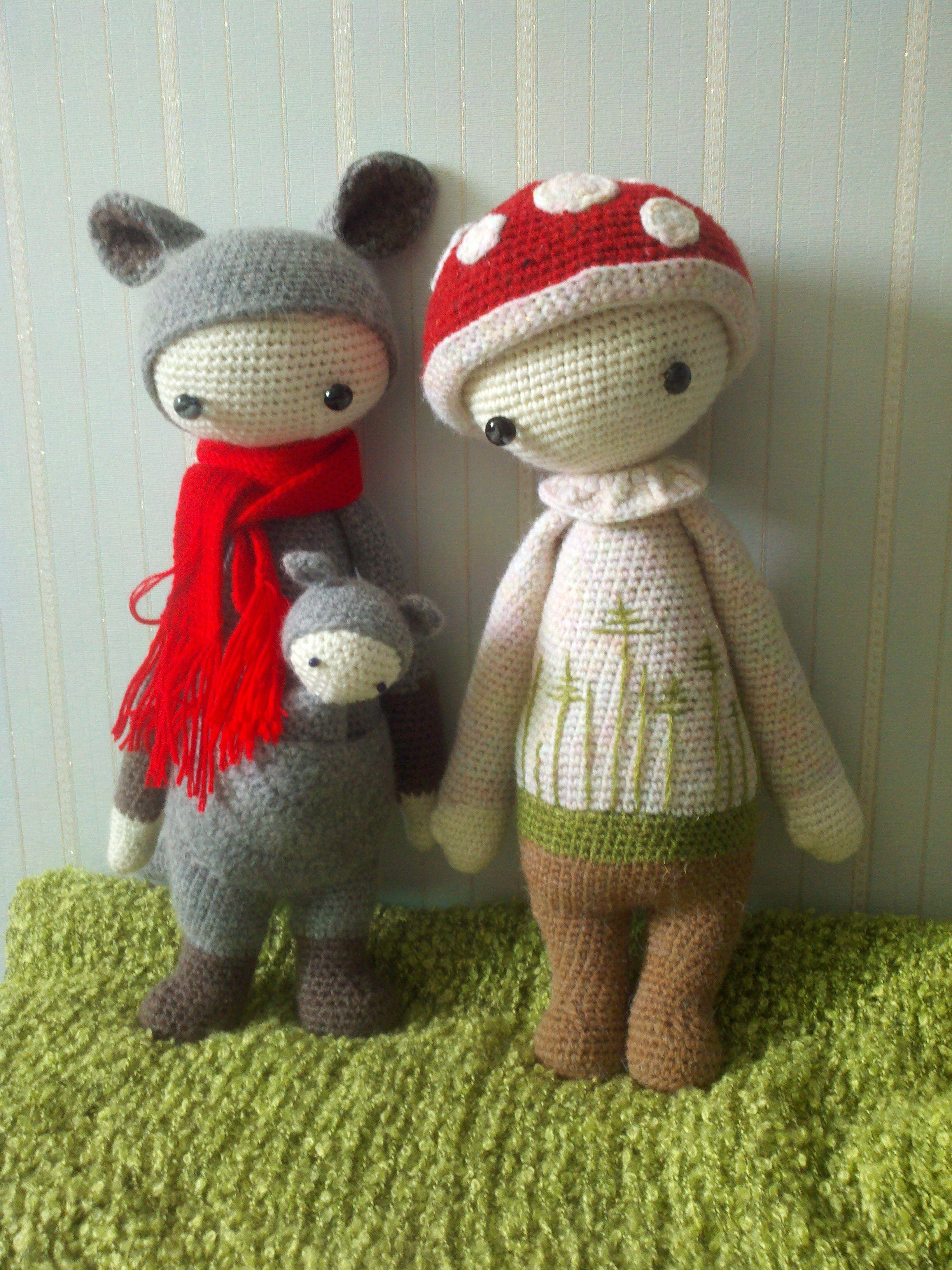 toy crochet pattern:kangaroo KIRA & mushroom PAUL made by 7chan ...