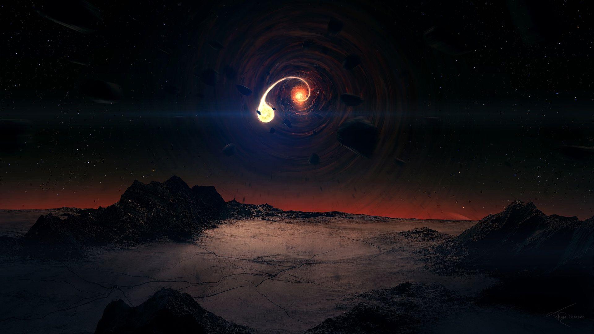 Imgur Black Hole Abstract Space Art Black Hole Wallpaper