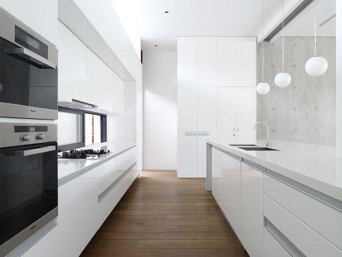 decoracin de cocinas modernas blancas - Cocinas Modernas Blancas