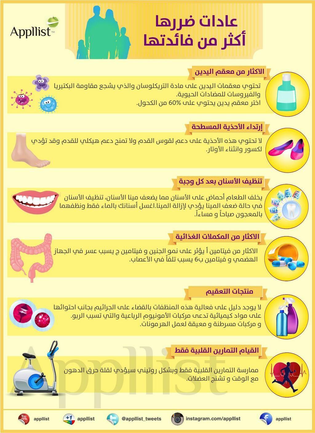 ابليست بالعربية On Twitter Health Fitness Nutrition Health Info Health Facts