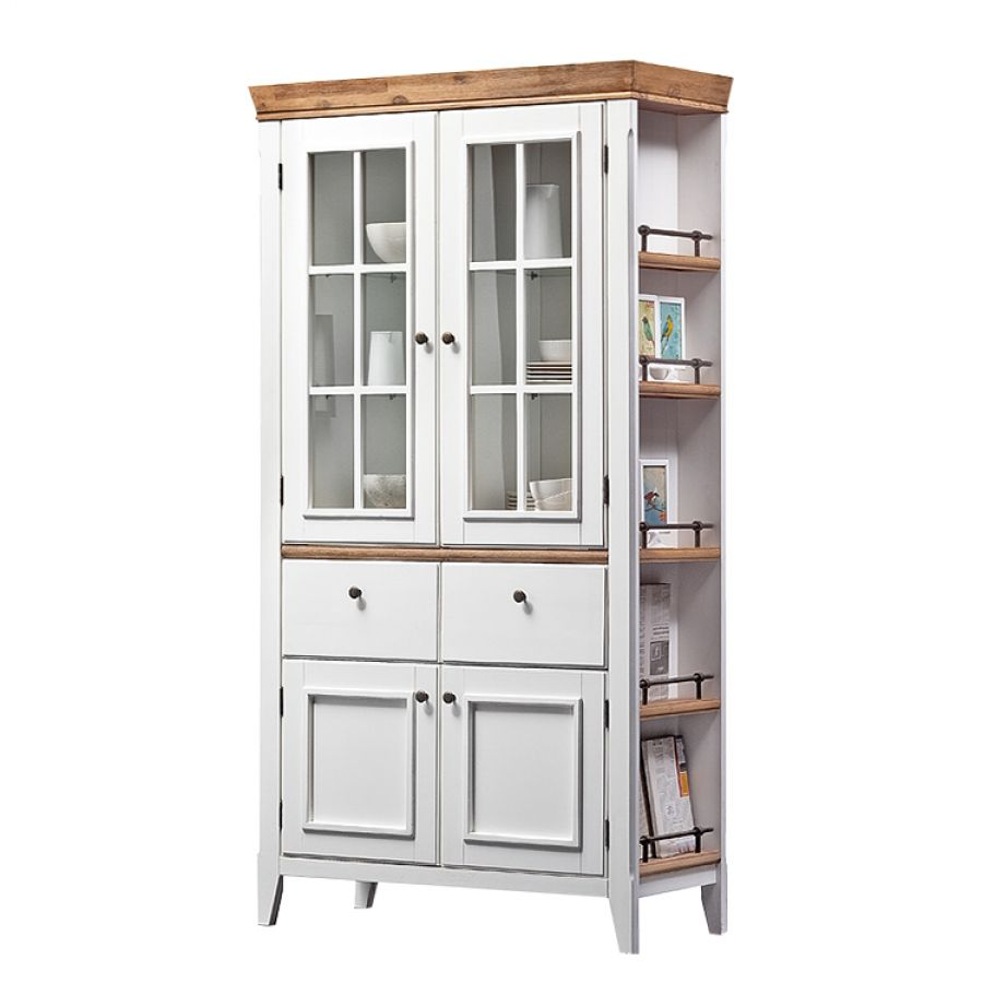 Buffet Macy Ii Akazie Teilmassiv Weiss Home Furniture