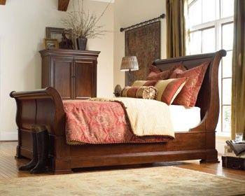 Cherry King Street Sleigh Bed