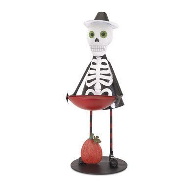 The Holiday Aisle Sam the Skeleton with Candy Bowl