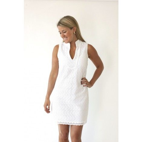 0334b9c78d The Rope Eyelet Sleeveless Dress in White by Sail to Sable