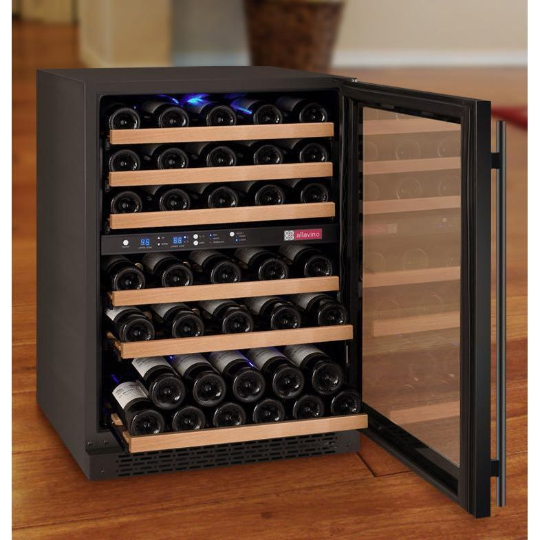 Allavino 56 Bottle Flexcount Series Dual Zone Refrigerator Wine Cooler Deluxehomestore Com Wine Storage Wine Refrigerator Shelf Design